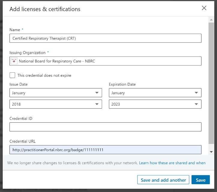 Linked In license info image